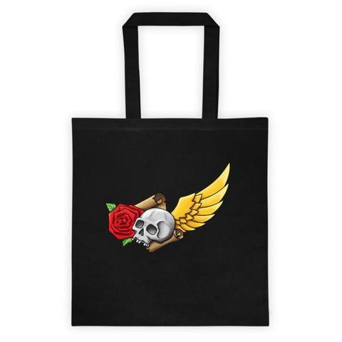 Skull and Rose Tattoo-inspired  All-around Tote - Rebel Style Shop - 1