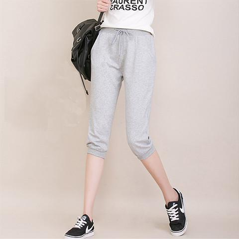 Cropped Drawstring Sweatpants - Rebel Style Shop - 1