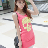Pastel Skull Sexy Summer Dress - Rebel Style Shop - 1