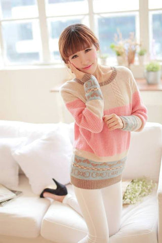 Kawaii Pastel Colored Knit  Sweater