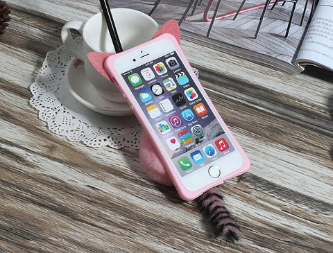 Cute Cat Tail Silicone Case (iPhone) - Rebel Style Shop - 1