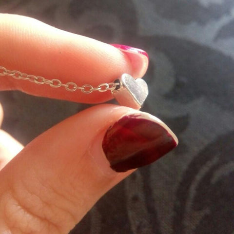 Tiny Heart Pendant Necklace - Rebel Style Shop - 5