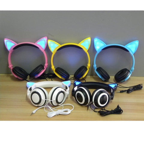 Foldable Cat Ear Headphones - Rebel Style Shop - 1