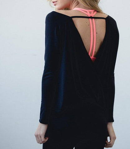 Open Back Yoga Top - Rebel Style Shop - 2