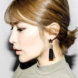 Triangle Tassel Drop Earrings - Rebel Style Shop - 1