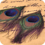 Peacock Feather Earrings - Rebel Style Shop - 1