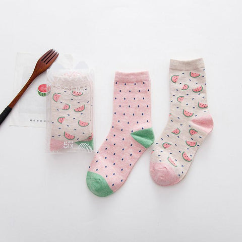 Watermelon Socks - 2 Pair - Rebel Style Shop - 1