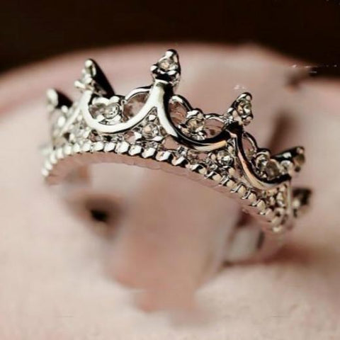 Queen's Silver Crown Ring - Ring - Rebel Style Shop