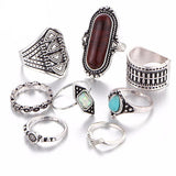 Boho Rings - 8 Piece Midi Set - rings - Rebel Style Shop
