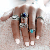 Bohemian Elephant Set (5-Pieces) - rings - Rebel Style Shop