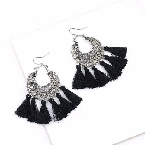 Vintage Hippie Style Boho Tassel Earrings - Rebel Style Shop - 1
