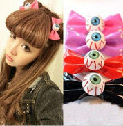 Gothic Kawaii Eyeball Hair Bow - Hair Clips - Rebel Style Shop