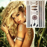 Free Spirit Gold Metallic Temporary Tattoos