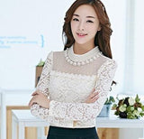 Sheer Chiffon Lace Blouse