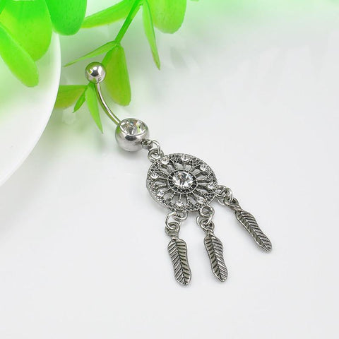 Dream Catcher Belly Button Ring - Belly Button Ring - Rebel Style Shop