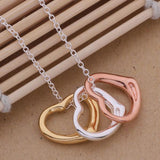 Three Hearts Pendant Necklace