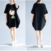 Kawaii Girl Print Oversized T Shirt Dress - Dress - Rebel Style Shop