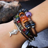 Evil Eye Multi-Layer Leather Wrap Bracelet - Bracelet - Rebel Style Shop
