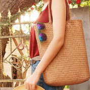 Straw Woven Tote Bag - Bag - Rebel Style Shop