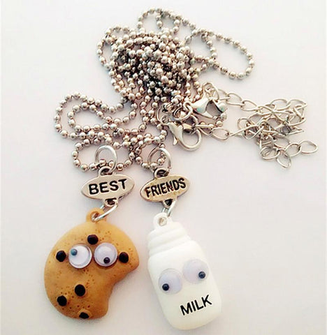 Milk and Cookies Two Piece Best Friends Necklace - Rebel Style Shop - 1