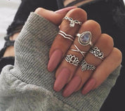 7 Piece Gypsy Ring Set - rings - Rebel Style Shop