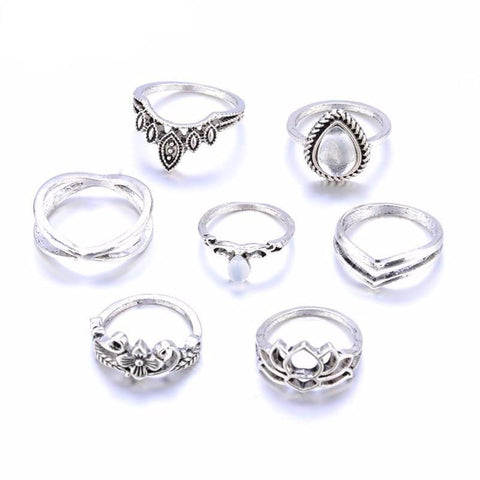 7 Piece Gypsy Ring Set