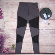 Black Mesh Yoga Leggings - Leggings - Rebel Style Shop