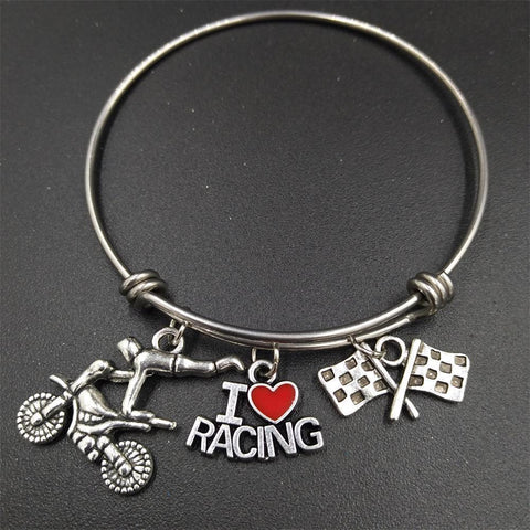 I Love Racing Bracelet - bracelet - Rebel Style Shop
