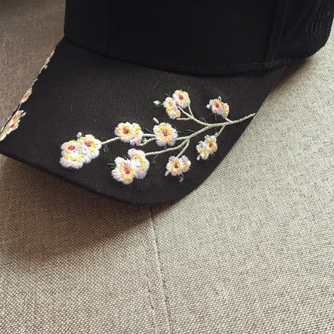 Embroidered Flowers Cap - Cap - Rebel Style Shop