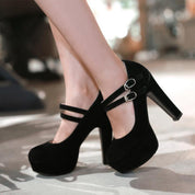 Double Strap Stiletto Shoes - shoes - Rebel Style Shop