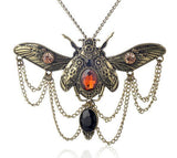 Beetle Steampunk Statement Necklace - Rebel Style Shop - 3