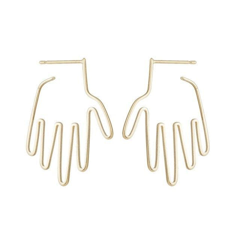 Minimalist Hand Earrings - Earrings - Rebel Style Shop