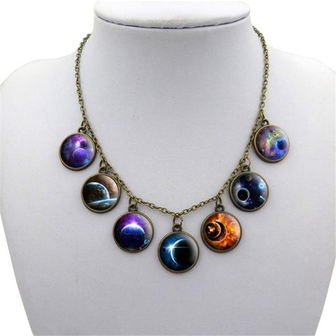 Goth Galaxy Choker - necklace - Rebel Style Shop