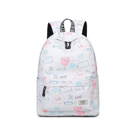 Kawaii Stationery Print Backpack - Backpack - Rebel Style Shop