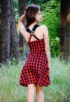 Gothic Plaid Casual Dress - Gothic Plaid Dress - Rebel Style Shop