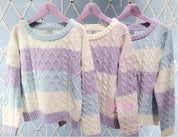 Macaron Inspired Knitted Sweater - Sweater - Rebel Style Shop
