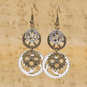 Steampunk Gear Vintage Earrings - Rebel Style Shop - 1
