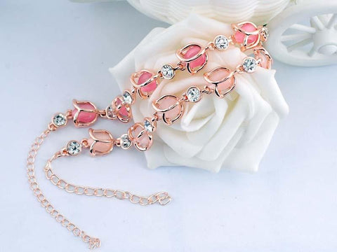 Romantic Rose Shaped Opal Bracelet - Bracelet - Rebel Style Shop