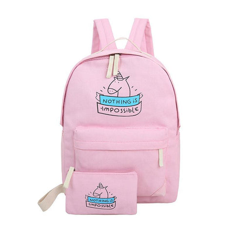 Nothing Is Impossible Unicorn Backpack and Purse Set
