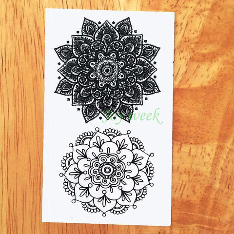 Boho Waterproof Mandala Temporary Tattoo - Rebel Style Shop - 1