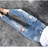Butterfly Embroidered Girlfriend Jeans - Women's Bottoms - Rebel Style Shop