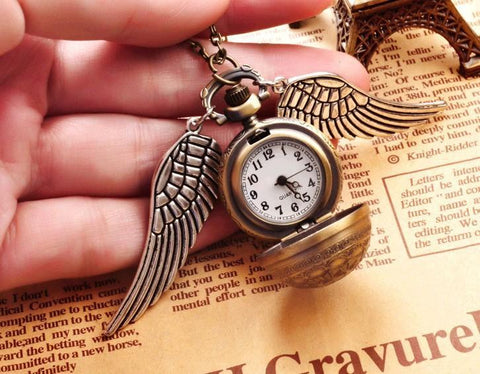 Harry Potter Antique Snitch Necklace - pocket watch - Rebel Style Shop