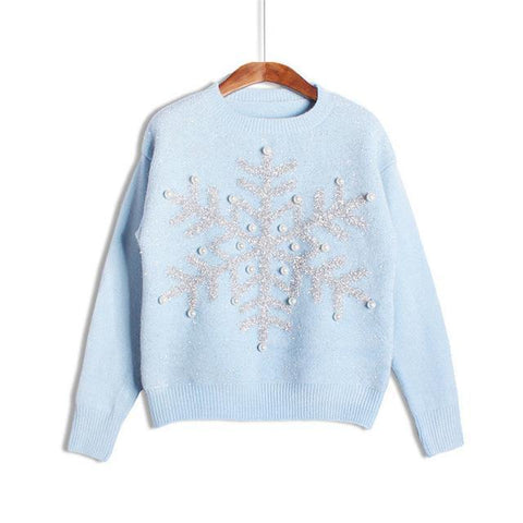 Snowflake Knitted Sweater