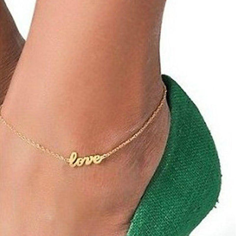 Love Ankle Bracelet - Anklet - Rebel Style Shop