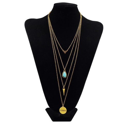 Long Multi-Layer Necklace - Rebel Style Shop - 3