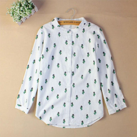 Long Sleeve Cactus Shirt