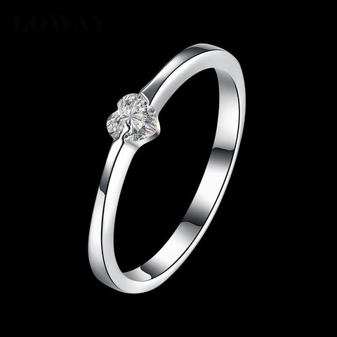 Heart Solitaire Ring - Ring - Rebel Style Shop