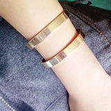 Double Layer Geometric Cuff Bracelet - cuff bracelet - Rebel Style Shop