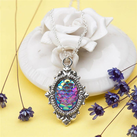 Vintage Mermaid Scales Necklace