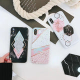 Geometric Marble Phone Case - Cell Phone Case - Rebel Style Shop